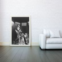 Freddie Mercury,  Queen, Decorative Arts, Prints & Posters, Wall Art Print, Poster Any Size - Black and White Poster
